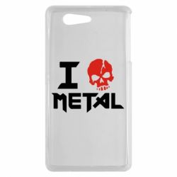 Чехол для Sony Xperia Z3 mini I love metal - FatLine