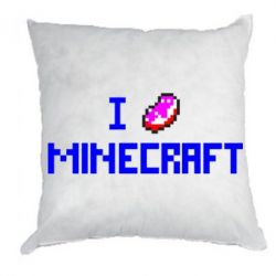 Подушка I love Minecraft - FatLine