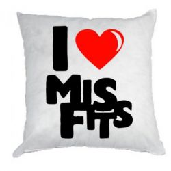 Подушка I love Misfits - FatLine