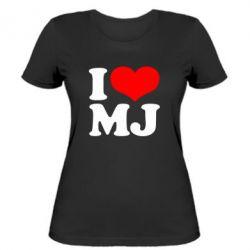 Женская футболка I love MJ - FatLine