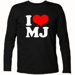 Футболка с длинным рукавом I love MJ - FatLine