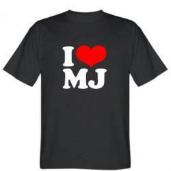 Мужская футболка I love MJ - FatLine