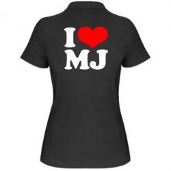 Женская футболка поло I love MJ - FatLine
