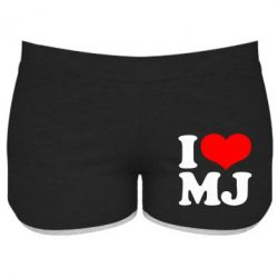 Женские шорты I love MJ - FatLine