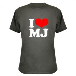 Камуфляжная футболка I love MJ