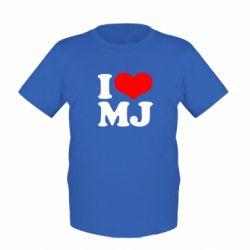 Детская футболка I love MJ
