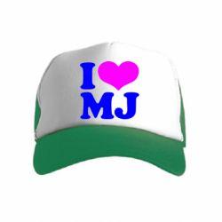 Детская кепка-тракер I love MJ