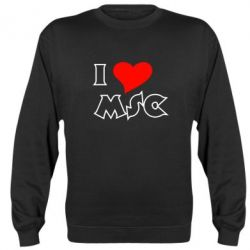 Реглан (свитшот) I love MSC - FatLine