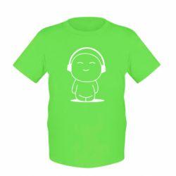 Детская футболка I love music