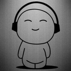 Наклейка I love music