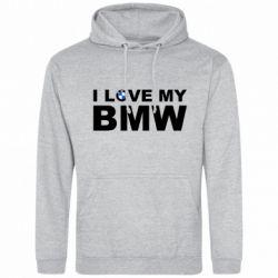 Мужская толстовка I love my BMW - FatLine