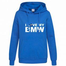 Женская толстовка I love my BMW - FatLine