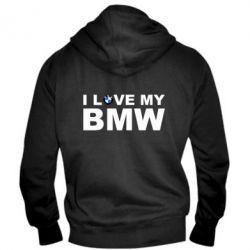 Мужская толстовка на молнии I love my BMW - FatLine