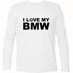 Футболка с длинным рукавом I love my BMW - FatLine