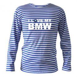 Тельняшка с длинным рукавом I love my BMW - FatLine