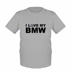 Детская футболка I love my BMW - FatLine