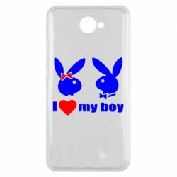 Чехол для Huawei Y7 2017 I love my boy - FatLine