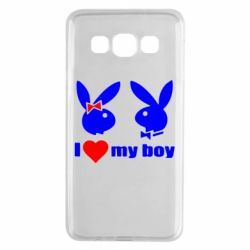 Чехол для Samsung A3 2015 I love my boy - FatLine