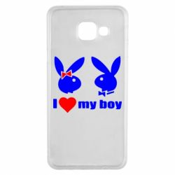 Чехол для Samsung A3 2016 I love my boy - FatLine