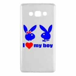 Чехол для Samsung A7 2015 I love my boy - FatLine