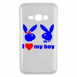 Чехол для Samsung J1 2016 I love my boy - FatLine
