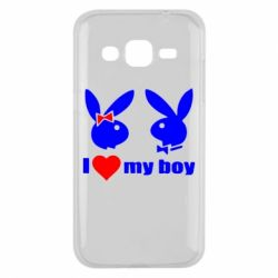 Чехол для Samsung J2 2015 I love my boy - FatLine