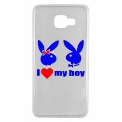 Чехол для Samsung A7 2016 I love my boy - FatLine
