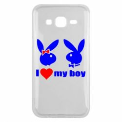 Чехол для Samsung J5 2015 I love my boy - FatLine