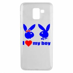 Чехол для Samsung J6 I love my boy - FatLine