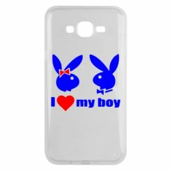 Чехол для Samsung J7 2015 I love my boy - FatLine