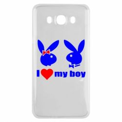 Чехол для Samsung J7 2016 I love my boy - FatLine