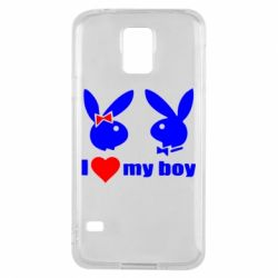 Чехол для Samsung S5 I love my boy - FatLine