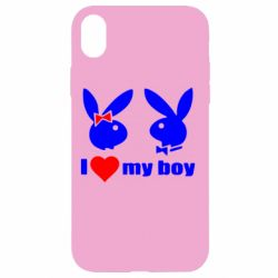 Чехол для iPhone XR I love my boy - FatLine