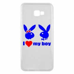 Чехол для Samsung J4 Plus 2018 I love my boy - FatLine