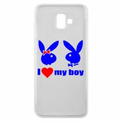Чехол для Samsung J6 Plus 2018 I love my boy - FatLine