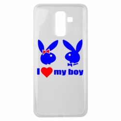 Чехол для Samsung J8 2018 I love my boy - FatLine
