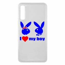 Чехол для Samsung A7 2018 I love my boy - FatLine
