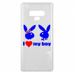 Чехол для Samsung Note 9 I love my boy - FatLine