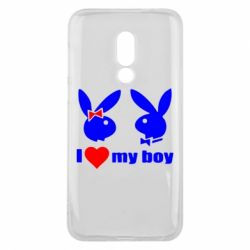 Чехол для Meizu 16 I love my boy - FatLine