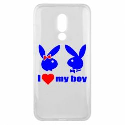 Чехол для Meizu 16x I love my boy - FatLine