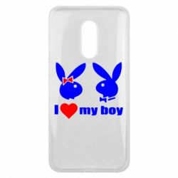 Чехол для Meizu 16 plus I love my boy - FatLine