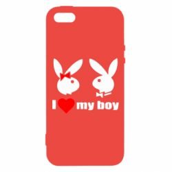 Чехол для iPhone5/5S/SE I love my boy - FatLine