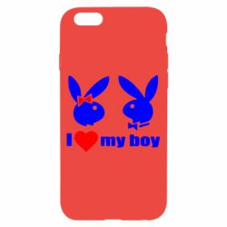 Чехол для iPhone 6/6S I love my boy - FatLine