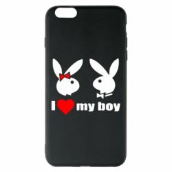 Чехол для iPhone 6 Plus/6S Plus I love my boy - FatLine
