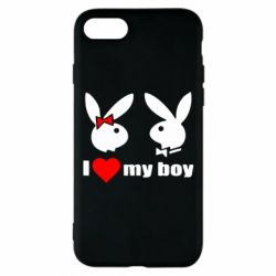 Чехол для iPhone 7 I love my boy - FatLine