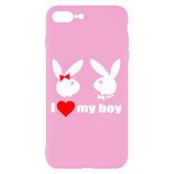 Чехол для iPhone 8 Plus I love my boy - FatLine