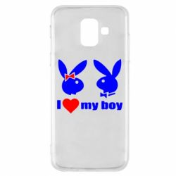 Чехол для Samsung A6 2018 I love my boy - FatLine