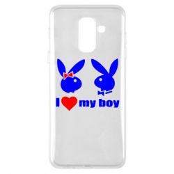 Чехол для Samsung A6+ 2018 I love my boy - FatLine