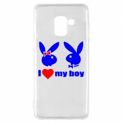 Чехол для Samsung A8 2018 I love my boy - FatLine