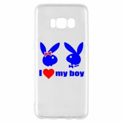 Чехол для Samsung S8 I love my boy - FatLine